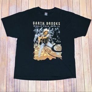 Hanes Garth Brooks Black concert tee shirt Sz XL